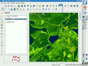 QGIS rastra slāņa krāsu pielāgošana - bilde