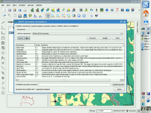 QGIS spraudņu instalētājs darbībā - bilde