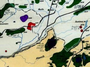 Ossim feather mosiac piemērs - 3 rajonu robežu vieta