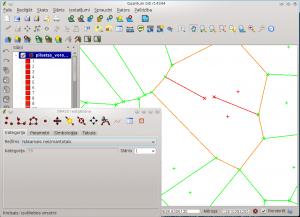 Topoloģiska GRASS vektoru rediģēšana QGIS vidē