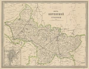 Karte ar koordinātu rāmi un tīklu