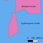 Attēls ar Augšdaugavas un Jēkabpils novada robežu
